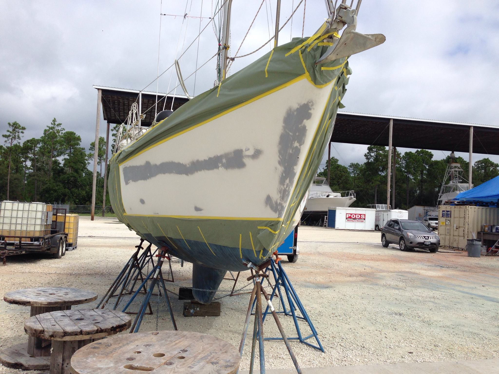 Sailboat Side Repair